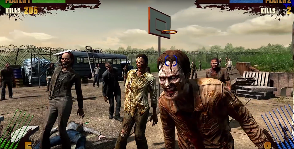 Скриншот из аркадного шутера The Walking Dead