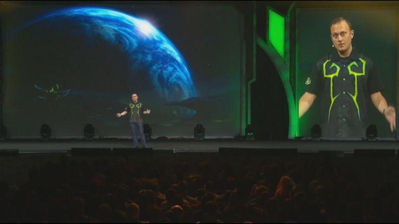Фото с презентации нового дополнения World of Warcraft