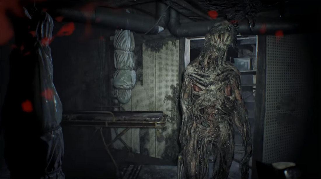 Скриншот Resident Evil 7 Demo. Нападение монстра