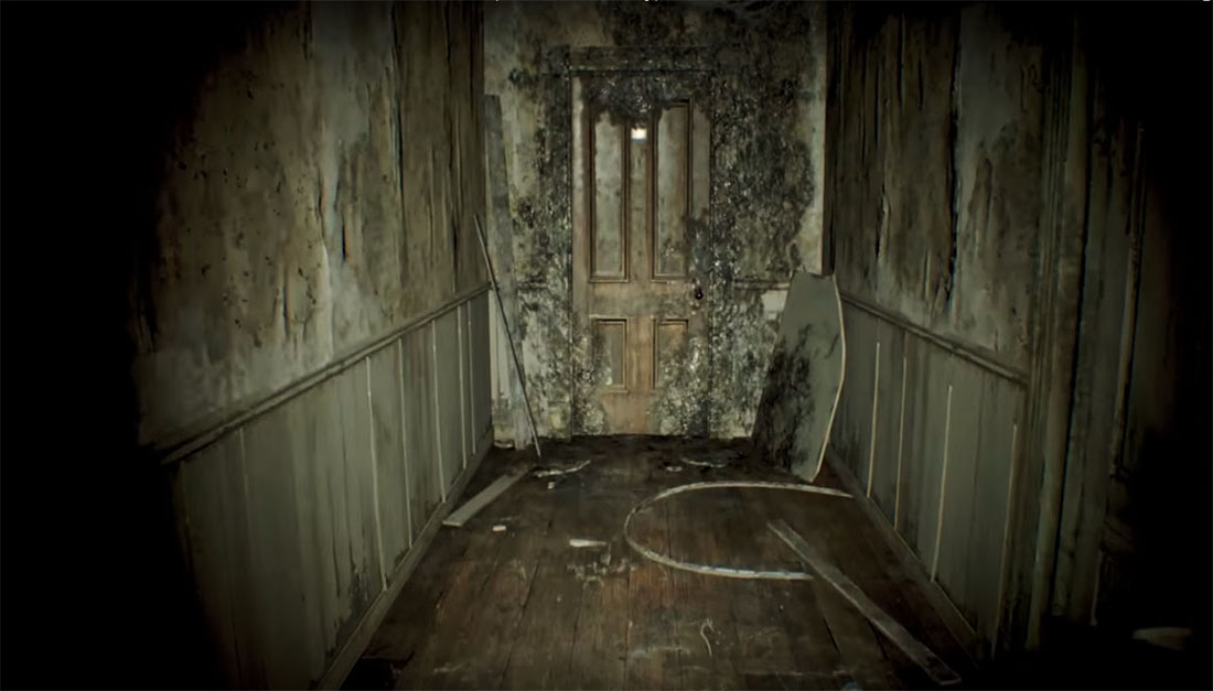 Скриншот Resident Evil 7 Demo. Заплесневелая дверь