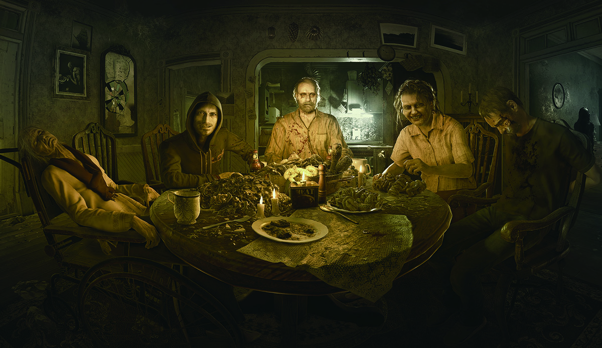 Скриншот Resident Evil 7 Demo. Счастливое семейство Бэйкеров