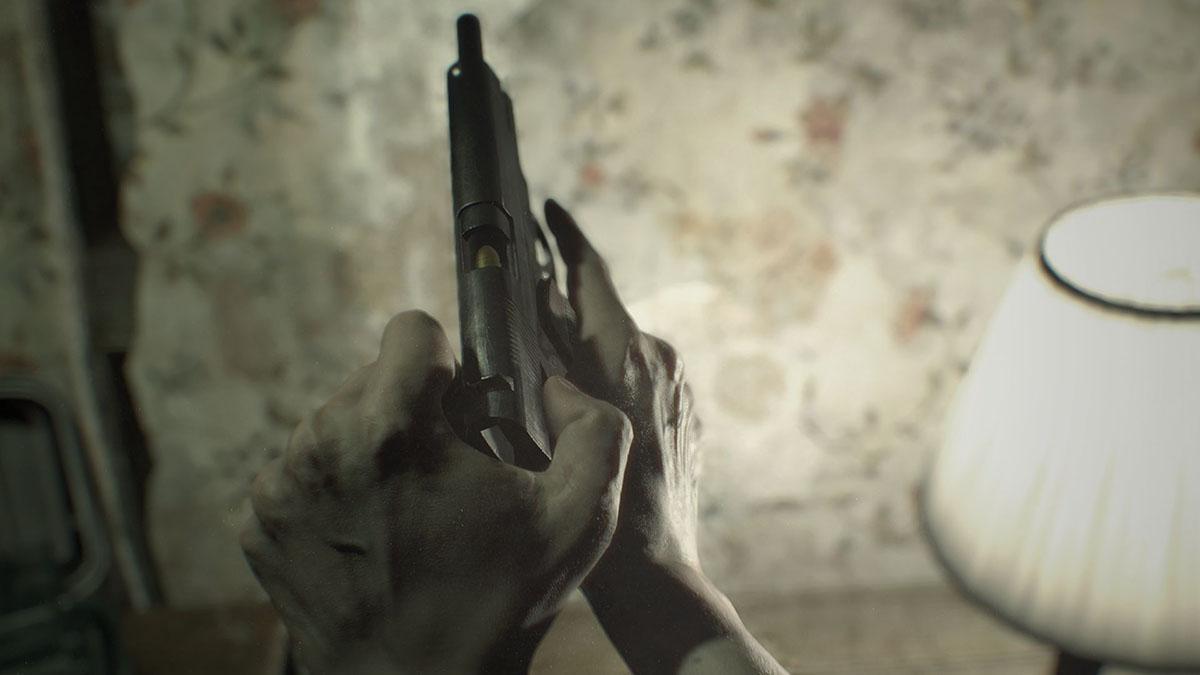 Скриншот Resident Evil 7 Demo. Пистолет